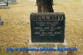 gravestone - Bellamy Family