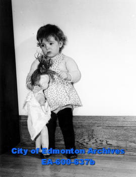 Needy Edmonton child whose Christmas gift will be provided by a city welfare organization.