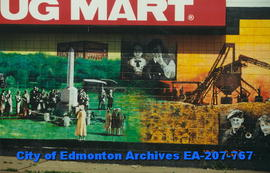 Beverly Shoppers Drug Mart decorated with murals - detail of four images
