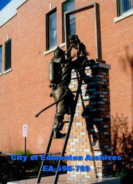 """The Rescue"",  Edmonton Firefighters Memorial sculpture"