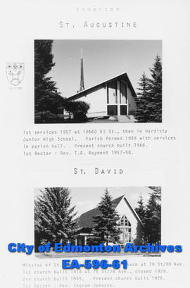 St. Augustine and St. David's Anglican Church Poster