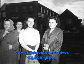 Dollar Cleaners main plant (9352 106A avenue) fire: women at the fire site.