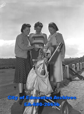 Alberta Women's Golf Championship at the Highlands.  Mrs. J.E. Robinson, Mrs. Graham Morton and M...