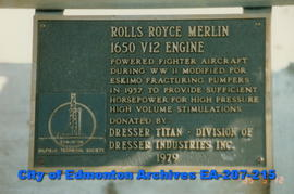 Rolls Royce Merlin 1650 V12 Engine - plaque