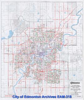 Edmonton Snow Route Guide 1996-97 -- Winter Season Snow Plowing and Removal Priority Routes