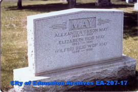 gravestone - May Family