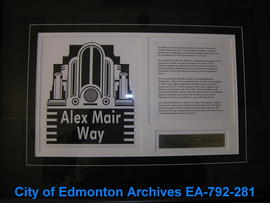 EHB Plaque for the Alex Mair Way