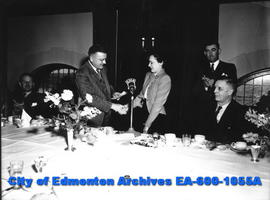 "The Edmonton Bulletin's ""Know Your Alberta"" contest winner, Mrs. Kathleen Thompson, is ..."