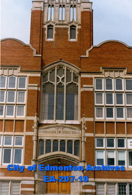 Westmount School - detail of front entrance