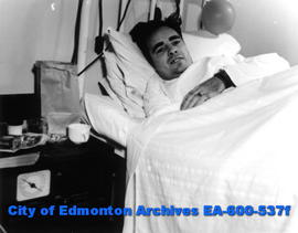 Layout to remind Edmontonians of the sacrifices of two world wars: LS James Thomson, patient at t...