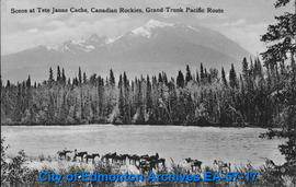Scene at Tete Jaune Cache, Canadian Rockies, Grand Truck Pacific Route