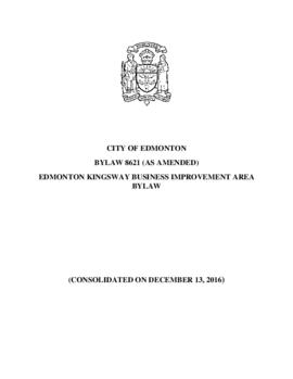 Bylaw 8621 - Edmonton Kingsway Business Improvement Area Bylaw