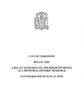 Bylaw 12605 - A Bylaw to Designate the Brighton Block as a Municipal Historic Resource