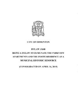Bylaw 13108 - To Designate the Parkview Apartments and the Foote Residence as a Municipal Histori...