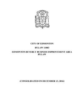 Bylaw 11083 - Edmonton Beverly Business Improvement Area Bylaw