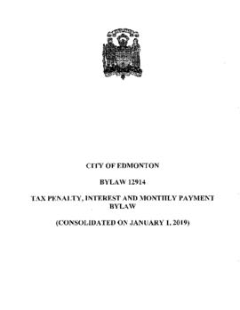 Bylaw 12914 - Tax Penalty, Interest and Monthly Payment Bylaw