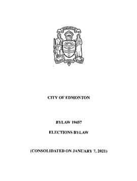 Bylaw 19457 - Election Bylaw