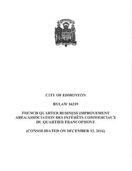 Bylaw 16219 - A Bylaw to establish the French Quarter and Area Business Revitalization Zone and i...