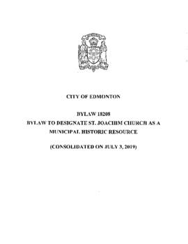 Bylaw 18208 - To designate St. Joachim Church as a Municipal Historic Resource