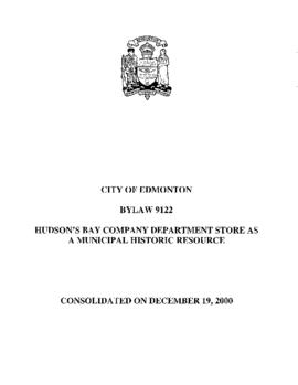 Bylaw 9122 - To Designate the Facades of the Hudson Bay Co. Dept. Store as a Municipal Historic R...