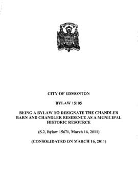 Bylaw 15105 - To designate the Chandler Barn and Chandler Residence as a Municipal Historic Resource