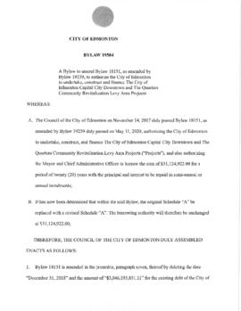 Bylaw 19584 - A Bylaw to amend Bylaw 18151, as amended by Bylaw 19239, to authorize the City of E...