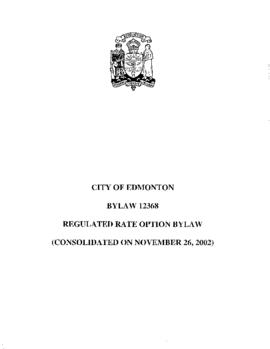 Bylaw 12368 - Regulated Rate Option Bylaw