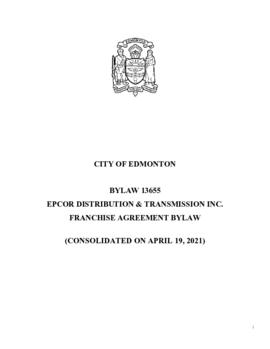 Bylaw 13655 - EPCOR Distribution & Transmission Inc. Franchise Agreement Bylaw