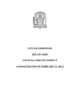 Bylaw 18483 - Council Code of Conduct