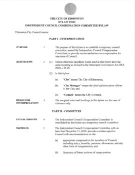 Bylaw 19212 - Independent Council Compensation Committee