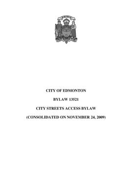 Bylaw 13521 - City Streets Access Bylaw