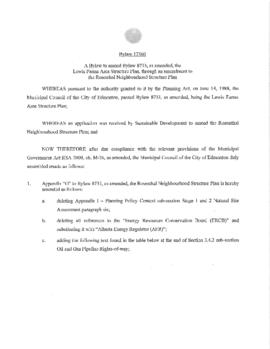Bylaw 17360 - Amendment to the Rosenthal Neighbourhood Structure Plan