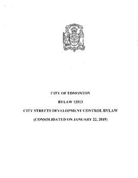 Bylaw 12513 - City Street Development Control Bylaw