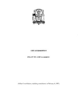 Bylaw 11345 - A Bylaw for the purpose of the construction of Water and Sewer Local Improvements P...