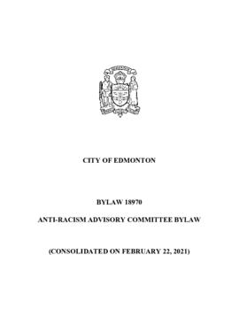 Bylaw 18970 - To create an Anti-Racism Advisory Committee