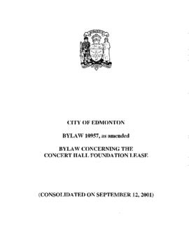 Bylaw 10957 - Bylaw Concerning the Concert Hall Foundation Lease