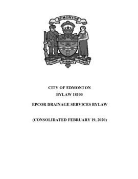 Bylaw 18100 - EPCOR Drainage Services Bylaw